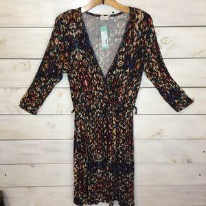 Pixley   Ohara Geo Abstract Faux Wrap Dress